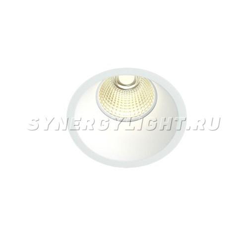 Встраиваемый светодиодный светильник, D99мм H117мм, 9Вт, 900Лм, 3000K, Диммируемый, Белый