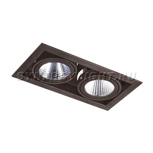 Карданный двойной светильник 257x140x110 мм, 66W, 4800Лм, 3000/4000K, Черный