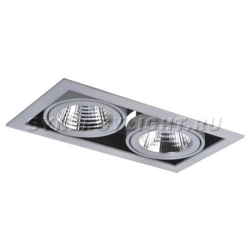 Карданный двойной светильник 257x140x110 мм, 66W, 4800Лм, 3000/4000K, Серый