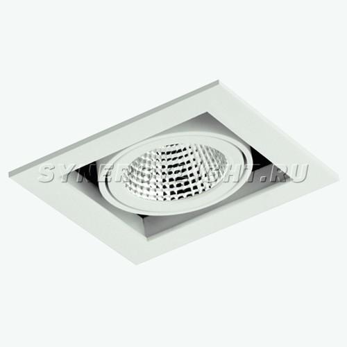Карданный одинарный светильник 140х140х118 мм, 35W, 3000/4000К, 2700Лм, Белый