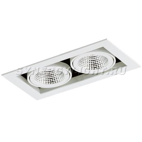 Карданный двойной светильник 257x140x110 мм, 66W, 4800Лм, 3000/4000К, Белый