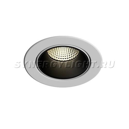 Поворотный встраиваемый светодиодный светильник 100х75мм 13W Белый