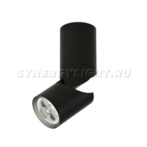 Накладной светодиодный светильник, D50мм H127мм, 8Вт, 460Лм, 3000K, Черный