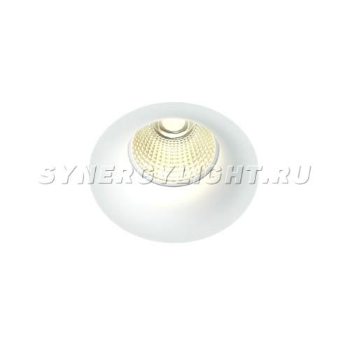 Встраиваемый светодиодный светильник, D95мм H110мм, 9Вт, 900Лм, 3000K/4000К, Диммируемый, Белый