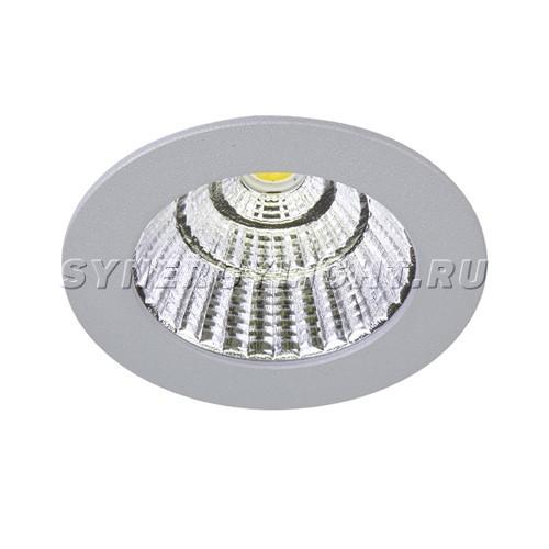 Светильник светодиодный встраиваемый 70х50мм 7W 3000K Серый