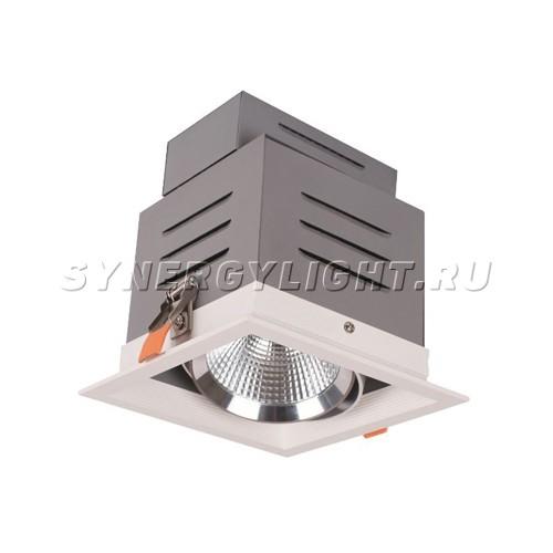 Встраиваемый карданный светильник 160*160*163 мм , LED 15W 3000K 1230lm 60° Белый