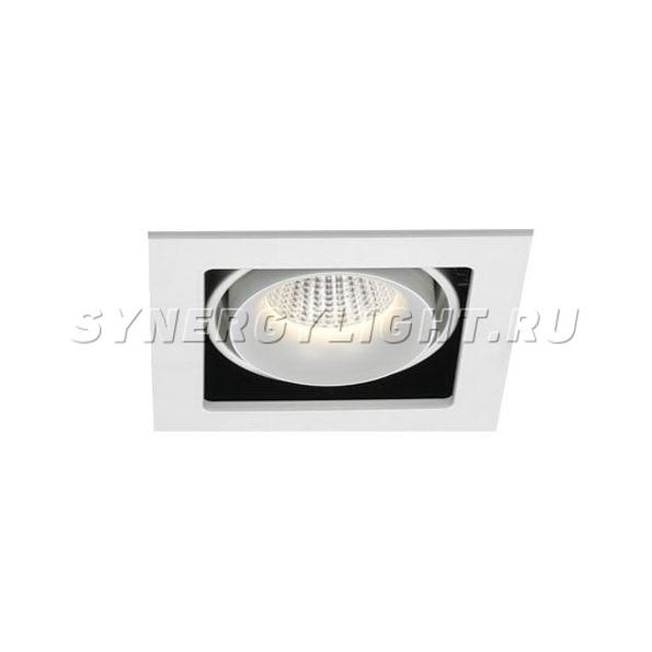 Карданный светодиодный светильник LED 31W 3050Lm 3000K 42° IP20   Белый