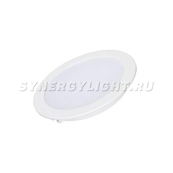 Тонкая круглая панель, 145×23мм, 12Вт, 900Лм, 3000К/4000К/6000К, Белый
