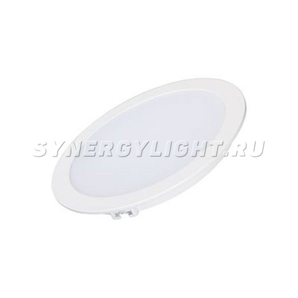 Тонкая круглая панель, 180×24мм, 18Вт, 1440Лм, 3000К/4000К/6000К, Белый