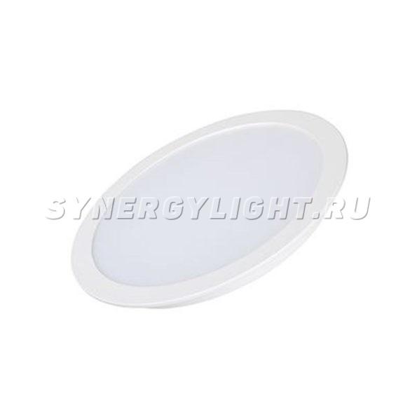 Тонкая круглая панель, 225×26мм, 24Вт, 1920Лм, 3000К/4000К/6000К, Белый
