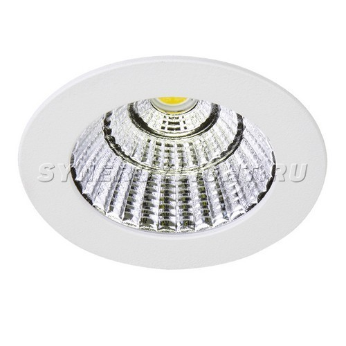 Встраиваемый светильник, Ф70×2мм, 7Вт, 630Лм, 3000К, Белый/Черный/Серый