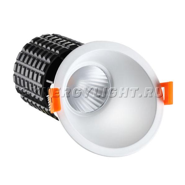 Встраиваемый светодиодный светильник, 132×96х96мм, 15Вт, 1000Лм, 3000K, Белый