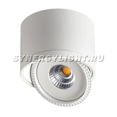 Накладной светильник, H102мм, D134мм, 15Вт, 1275Лм, 3000K, Белый